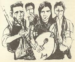 Os Rosales. Dibujo de Pepe Conde Corbal