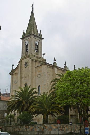 Iglesia parroquial de Caldas de Reis, capital del distrito que enfeudaron los Sagasta. En su construcción intervinieron muy activamente nuestros antepasados