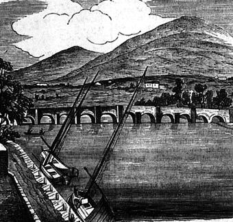 El antiquísimo puente de Cesures en 1879