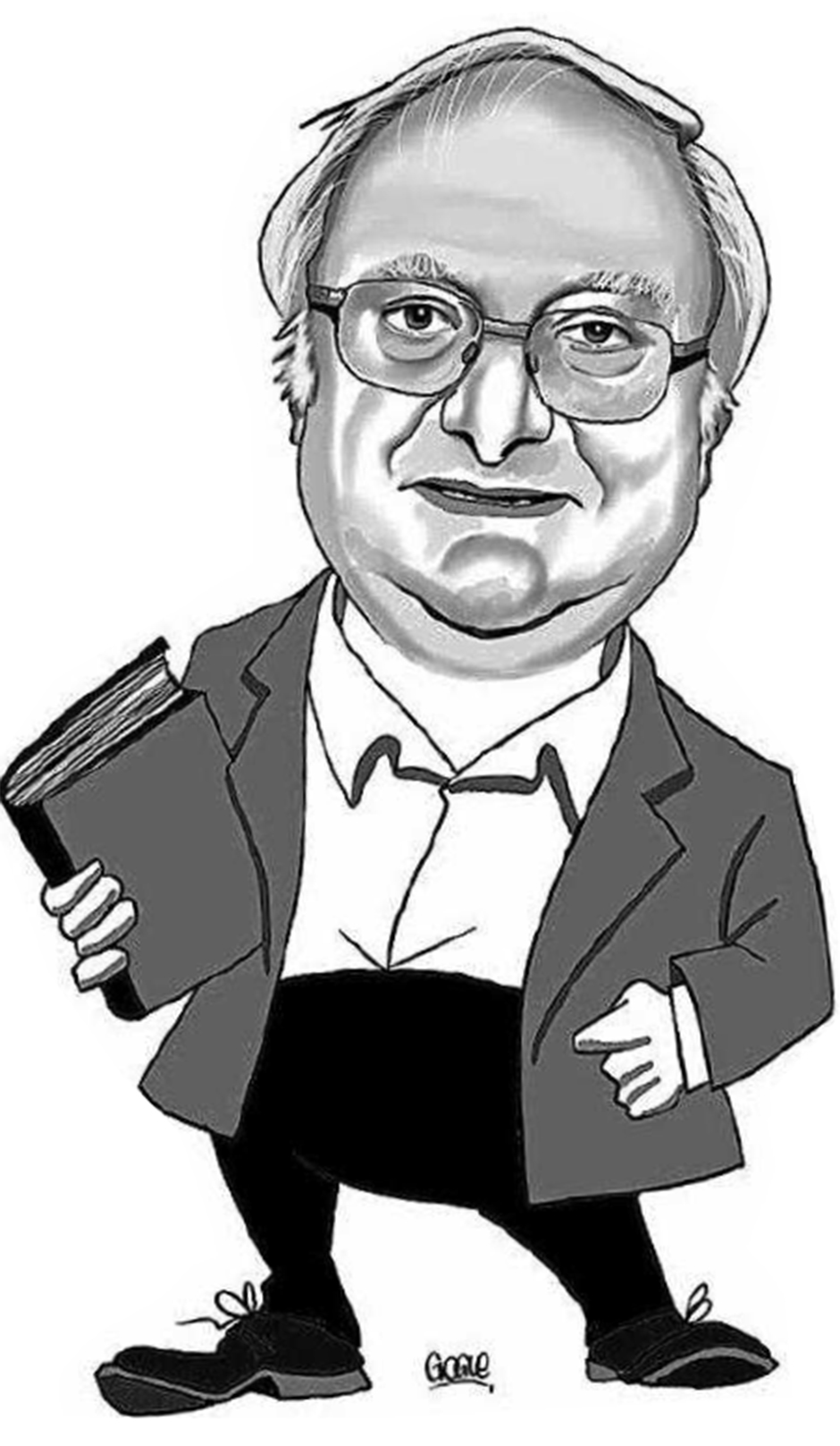 """Caricatura de Tonio por Gogue. En una entrevista de Susana Reguera, publicada en """"Faro de Vigo"""", el domingo 17 de abril de 2016"""