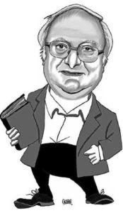 Caricatura del historiador José Antonio Durán por gogue