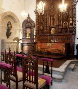 Detalle de la capilla del pazo de Meirás, donde Emilia pensaba reposar en su sueño eterno. En realidad, se la enterró en la Sacramental de San Lorenzo de Madrid.