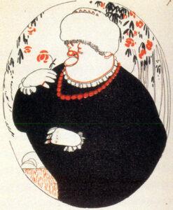 Emilia Pardo Bazán, por Luis Bagaría (1915)
