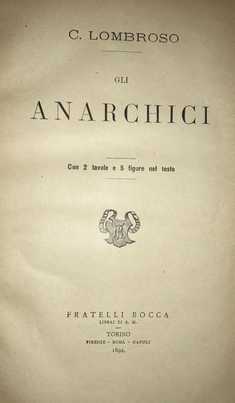 Edición príncipe del célebre libro de Lombroso