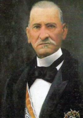 Retrato de Eduardo Matos Santos, gobernador civil de Pontevedra. Libro de la Diputación, página 122