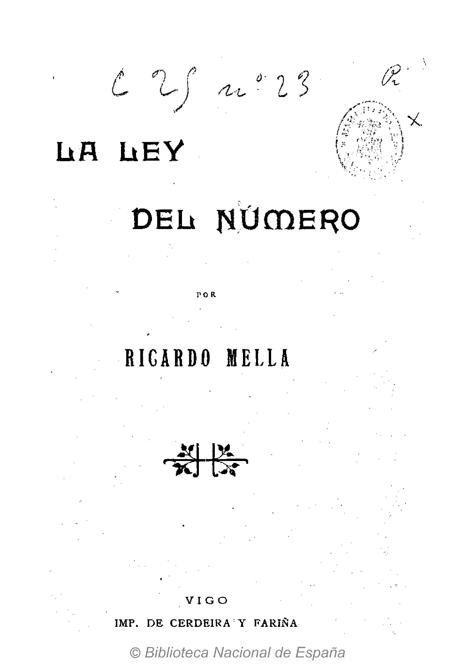 Ejemplar de la Biblioteca Nacional de España, con dedicatoria autógrafa del Autor a Francisco Pi y Margall. Se declara en ella su admirador y discípulo (1899)