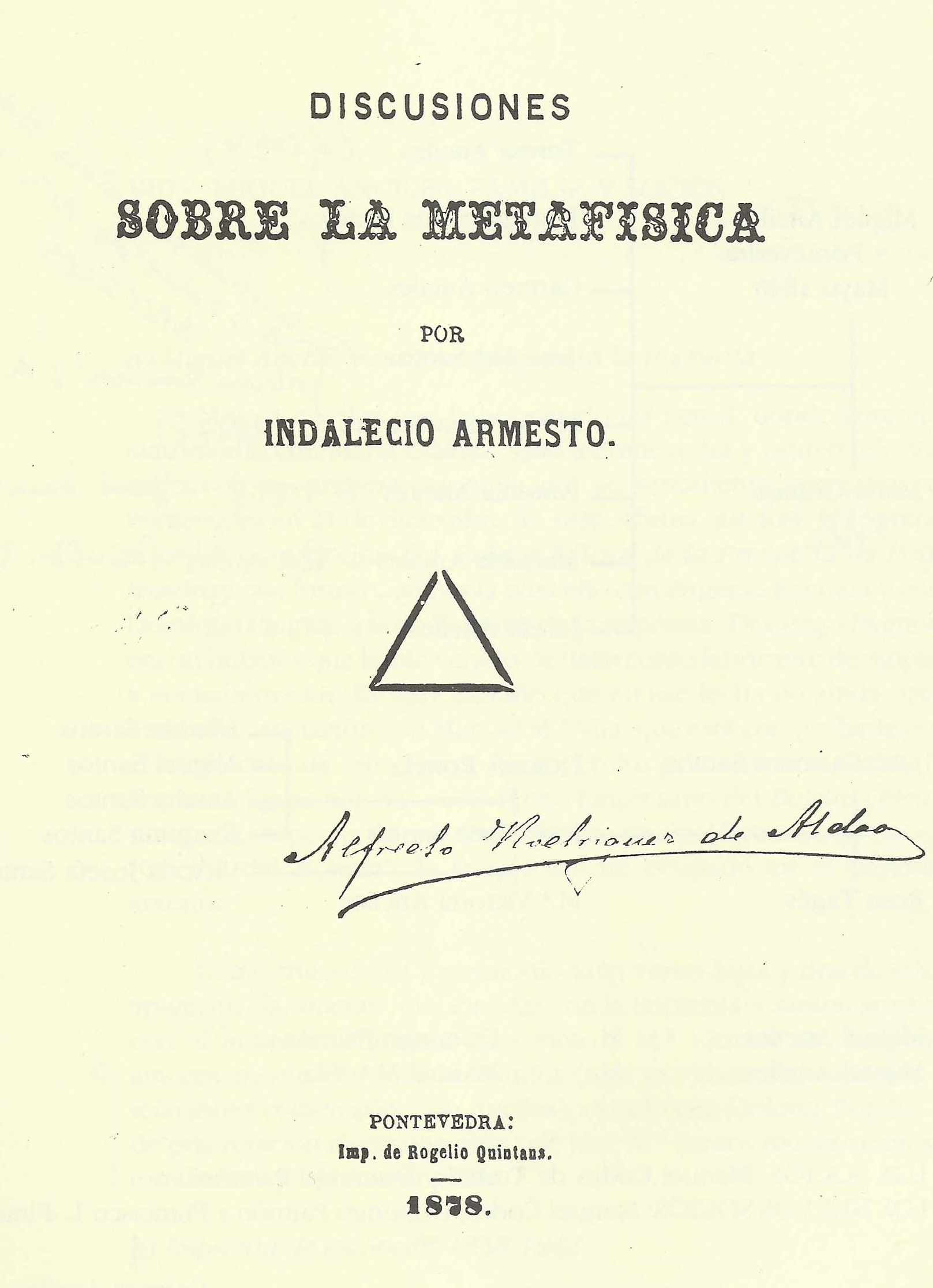 En imagen, portada del ejemplar del célebre espiritista pontevedrés Alfredo Rodríguez Aldao