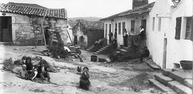 Paisaje social pontevedrés del área de San Roque, en la Moureira. Fotografía de Zagala