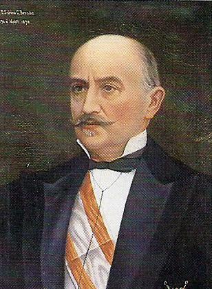 Retrato de Sabino González Besada. Forma parte de la galería de presidentes de la Diputación Provincial de Pontevedra
